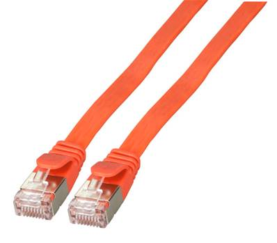CORDON RJ45 PLAT CAT. 6A U/FTP 5M - ROUGE