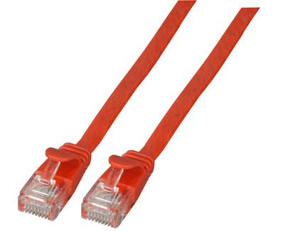 CORDON RJ45 PLAT CAT. 6A U/UTP 0.25M - ROUGE
